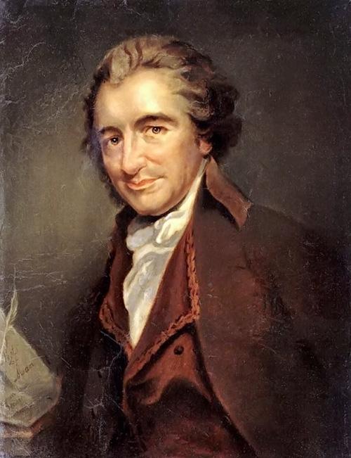 Thomas Paine, grande divulgador do deísmo nos Estados Unidos.