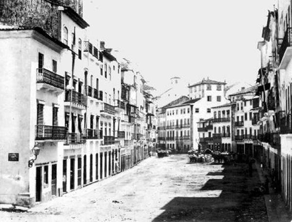 Rua da Cruz em 1855