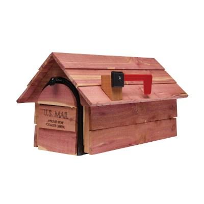 Cedar Chalet Wooden mailbox