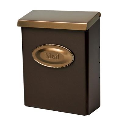 Designer Bronze Wall Mount Mailbox