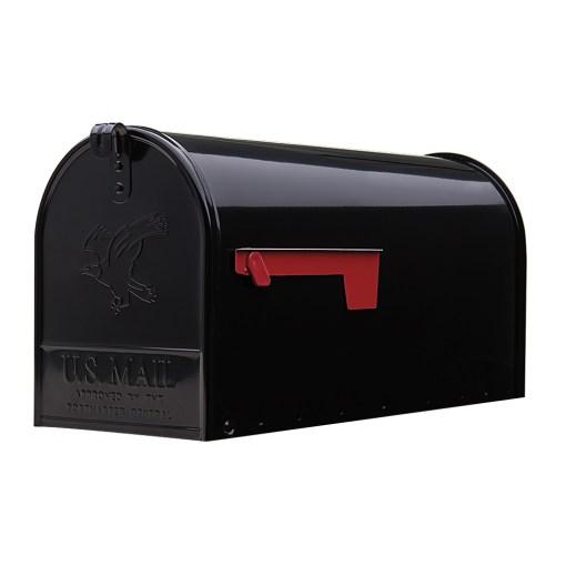 Elite Large Black Mailbox