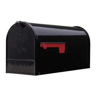 Elite Large Black Mailbox