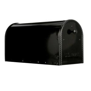 Edwards Black Mailbox Side View