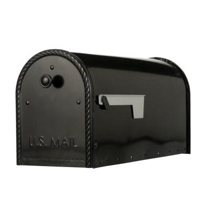 EM160B00 Black Post Mount Mailbox