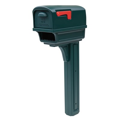 Gentry Green mailbox with post