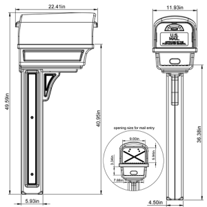 GGC1000 Mailbox Combo Technical Specifications