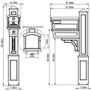 HC000V01 Mailbox Combo Technical Specifications
