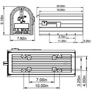 CC1R0000 Mailbox Technical Specifications