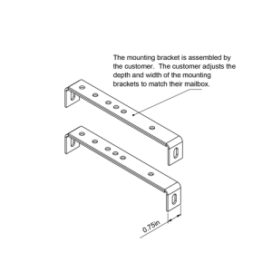 MB100000 Mailbox Mounting Brackets Technical Specifications