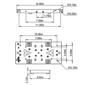 PLMB0060 Mailbox Mounting Board Technical Specifications