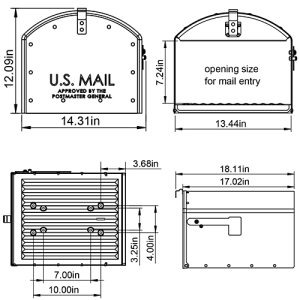 SH400B01 Mailbox Technical Specifications