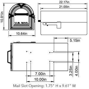 WM16K Mailbox Technical Specifications