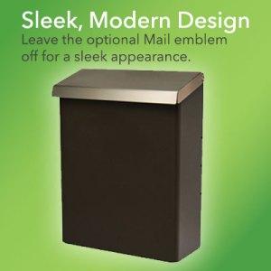 Designer Wall Mount Mailbox without emblem intalled