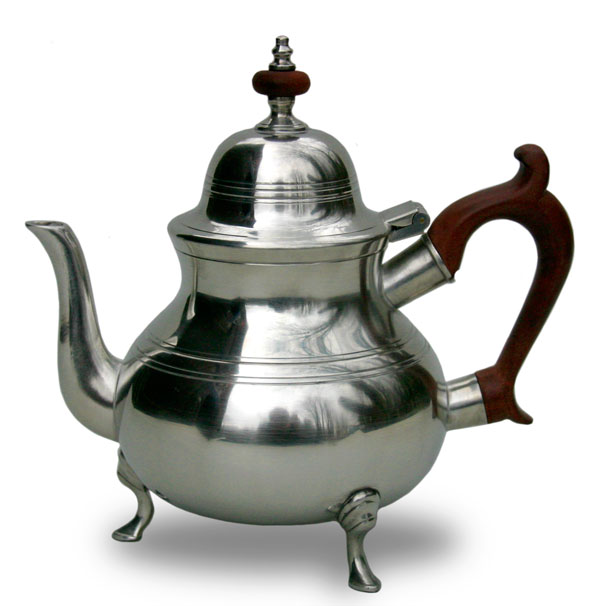 Queen Anne Teapot With Feet Gibson Pewter