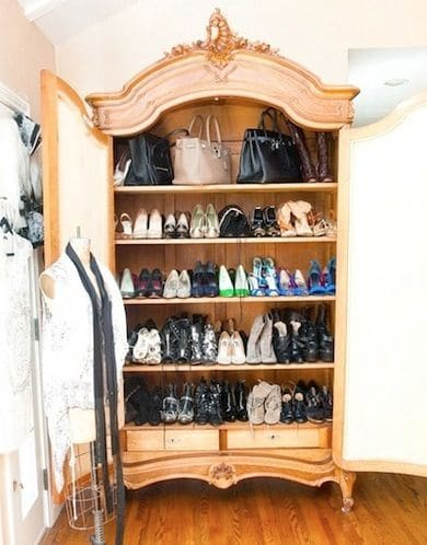 Convert Kitchen Cabinet For Shoes