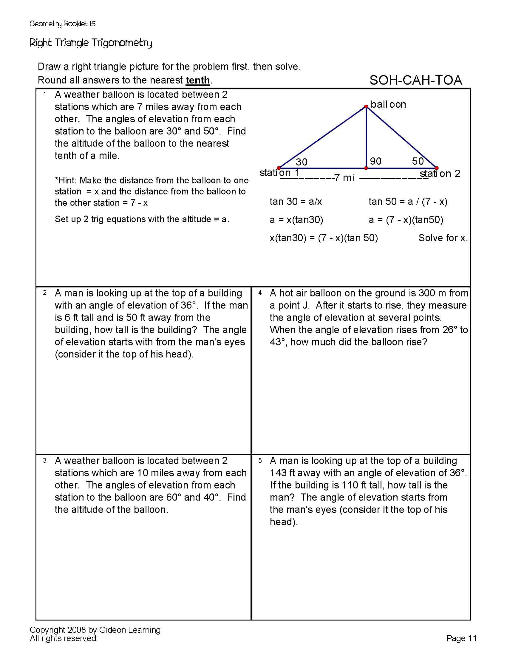 Right Triangle Trig Geometry