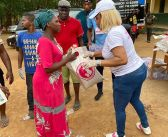 Tonto Dikeh, stabbed while sharing relief items