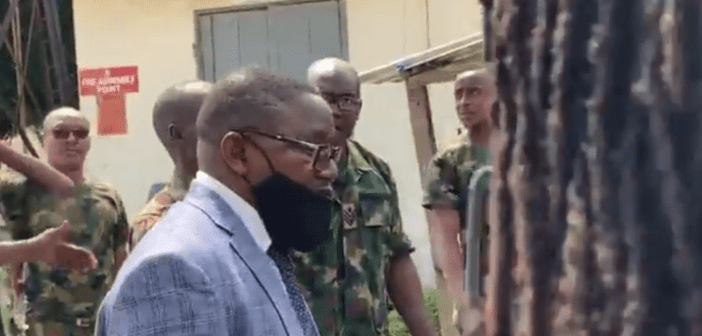 Video: Soldiers stop Lagos judicial panel from accessing military mortuary