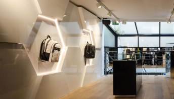Wand en uitbouw interieur BALR - Verbouw en uitbreiding winkelruimte BALR - Gietermans & Van Dijk architecten - Serena Silooy Photography