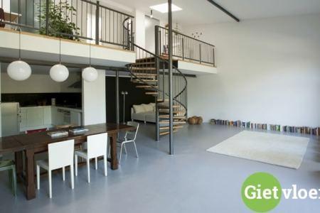 gietvloer over tegels heen gietvloer in appartement gietvloeren ...