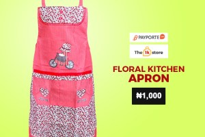 Payporte 1k store - Floral Kitchen Apron-Red In