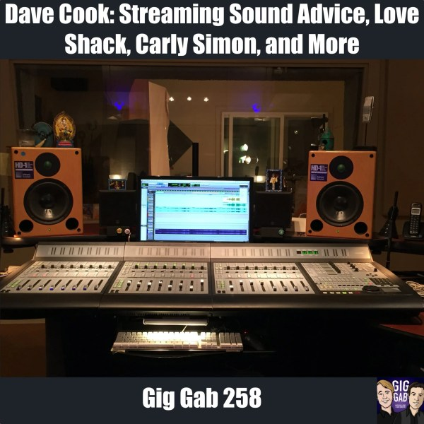 area 52 studios console for gig gab 258 with Dave Cook
