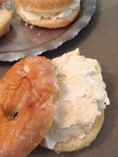 doughnut & ice cream
