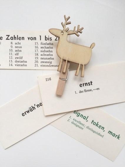 vintage translation cards