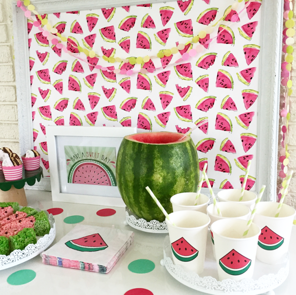 watermelon treat table