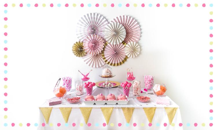 candy buffet styling