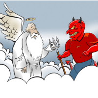 When GOD threatened to sue DEVIL,,,, devils reply shocked him !!!