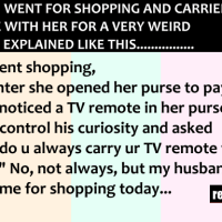 This women went to shopping, carrying a TV remote for a very funny reason...