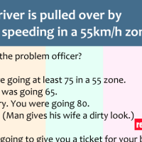 A driver was pulled over by the cop, and their conversation is hilarious