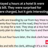 A couple was surprised when they were asked to pay 350$ bill for just 4 hours of their stay at a hotel...