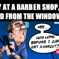 this barber shop was very popular in the neighbourhood