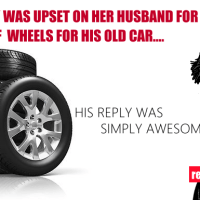 This man brought himself a set of new wheels for his old car