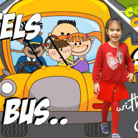 The wheels on the bus song with AGNES  Nursery Rhymes for Babies   COLORCOUNTFUN