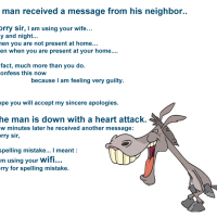 A man received a message from his neighbor..... what happens next is awesome !!!
