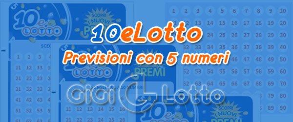Previsioni 10eLotto del 05-12-2020