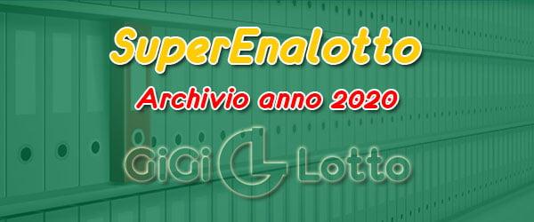 Archivio Superenalotto 2020