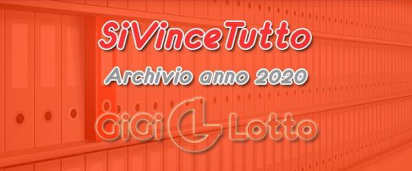 Archivio SiVinceTutto 2020
