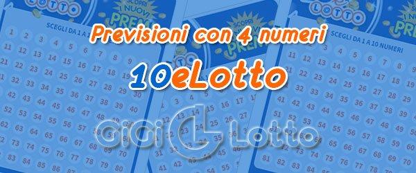 Previsioni 10eLotto del 04-08-2020