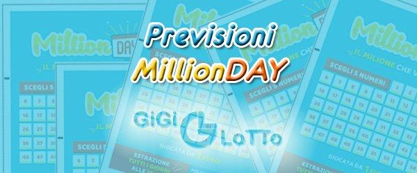 Previsioni MillionDay del 26-12-2020