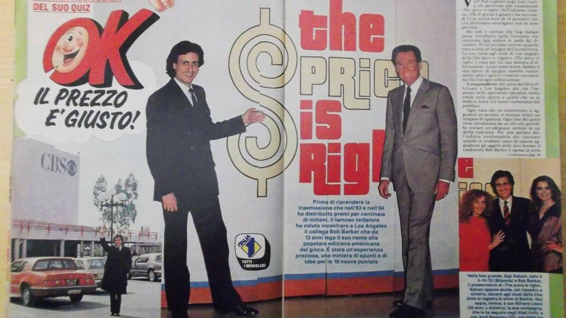 CLIPPING – 1985 – Sabani scopre l'America e torna alla conduzione del suo Quiz