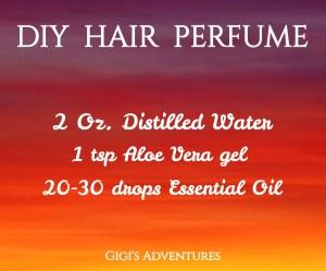 DIY 3-Ingredients All Natural Spray Hair Perfume | Super