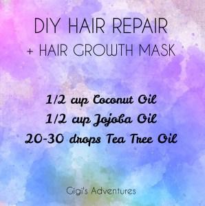 Diy 3 Ingredients Vegan Hair Repair Growth Mask Overnight