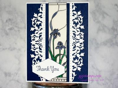 Graceful Glass Vellum Thank You.