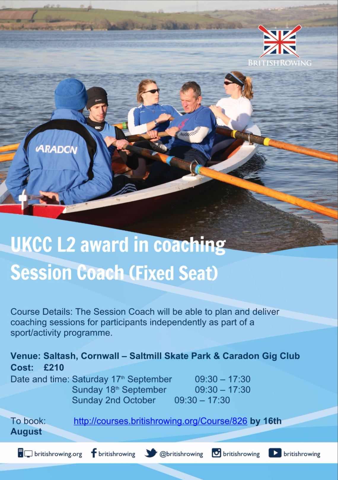 Rowing course poster