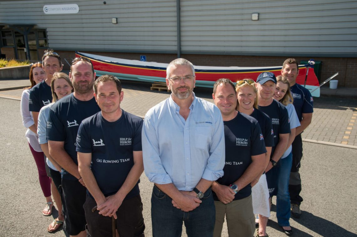 Richard Bland, his team and the Help for Heroes crew