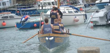 Truro's Justin Halliwell (Rabbi) taking on Rowing Challenge